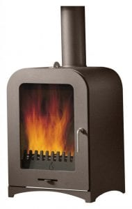 Woodburning stove Rich brown