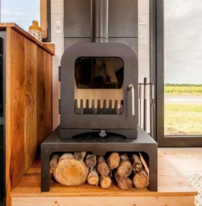 universal log stand for stove